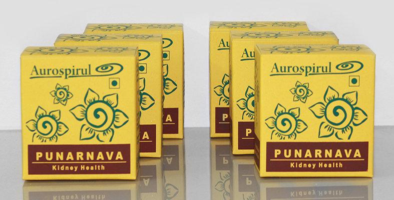 Aurospirul organic certified Punarnava capsules 6-pack - 6 x 100 capsules