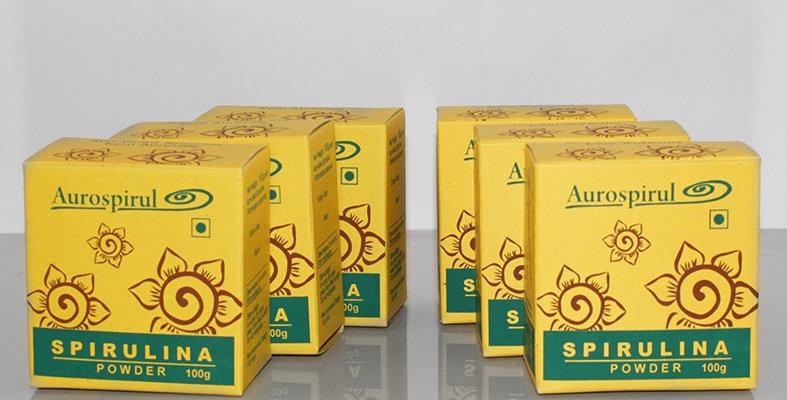 Aurospirul Sun dried spirulina powder 6-pack - 6 x 100g