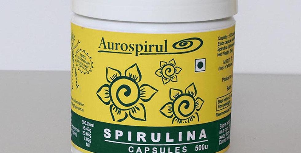 Aurospirul Sun-Dried Spirulina - 500 Veg Capsules
