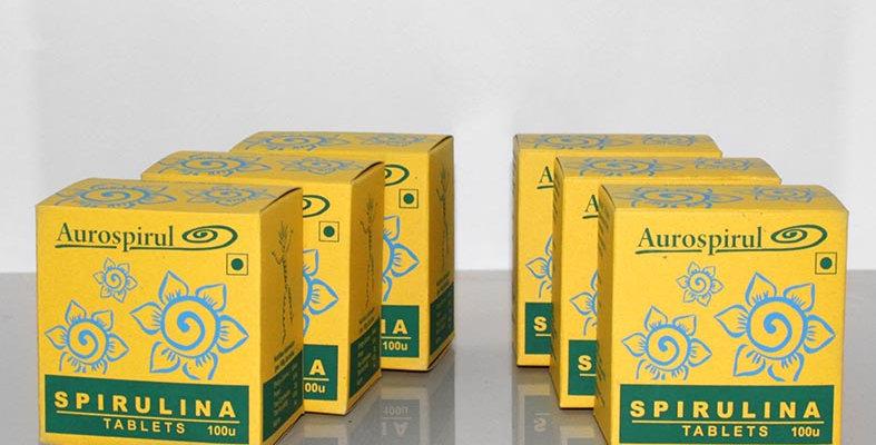 Aurospirul Sun dried spirulina tablets 6-pack - 6 x 100 tablets