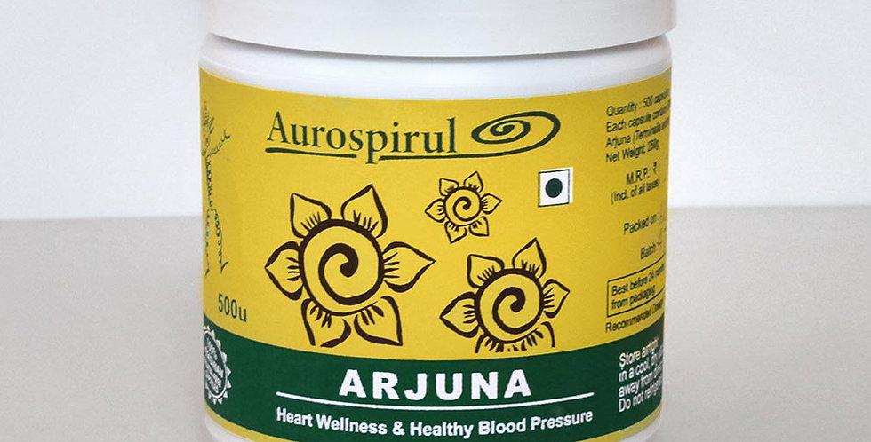 Aurospirul organic certified Arjuna - 500 Veg Capsules