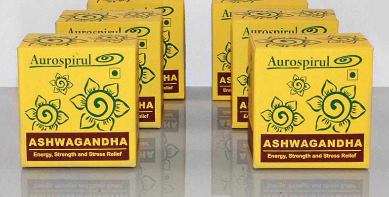 Aurospirul organic certified Ashwagandha capsules 6-pack - 6 x 100 capsules
