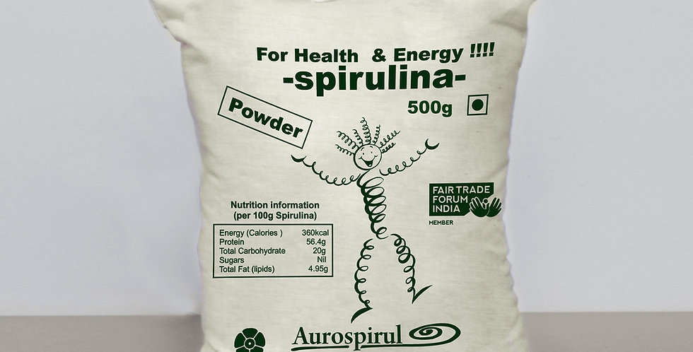 Aurospirul Sun Dried Spirulina Powder - 500g