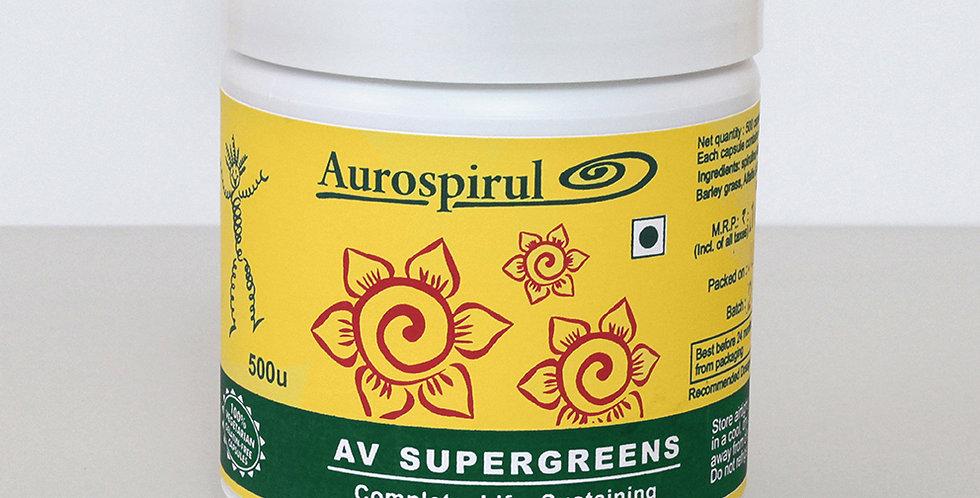 Aurospirul Av Supergreens - 500 Veg Capsules