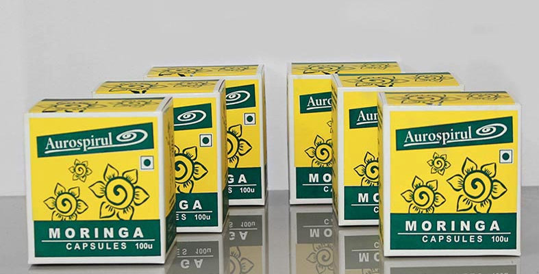 Aurospirul Organic Moringa capsules 6-pack - 6 x 100 capsules