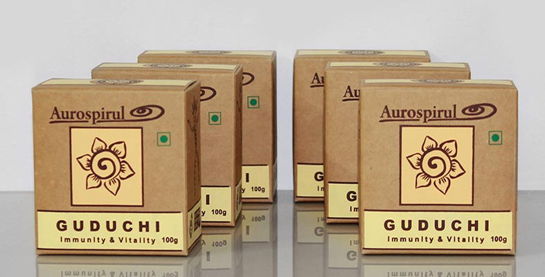 Aurospirul organic certified Guduchi powder 6-pack - 6 x 100g