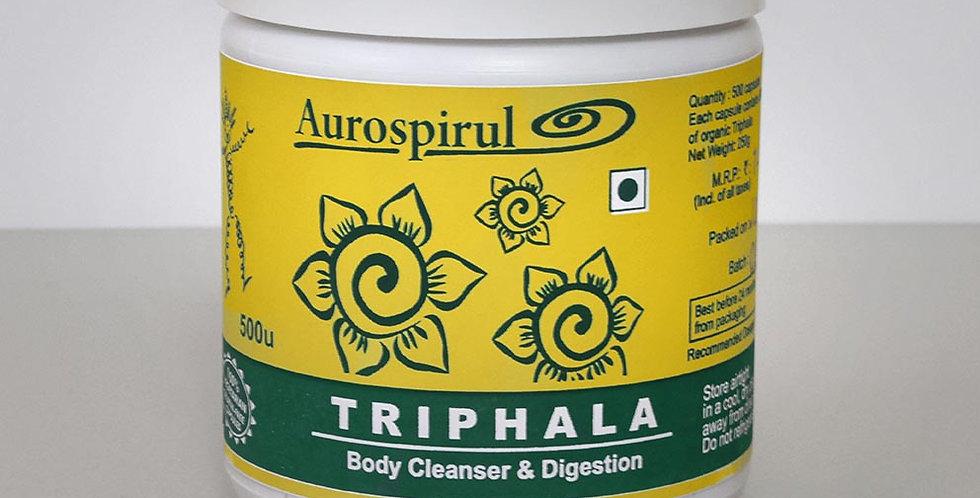 Aurospirul Organic Certified Triphala - 500 Veg Capsules