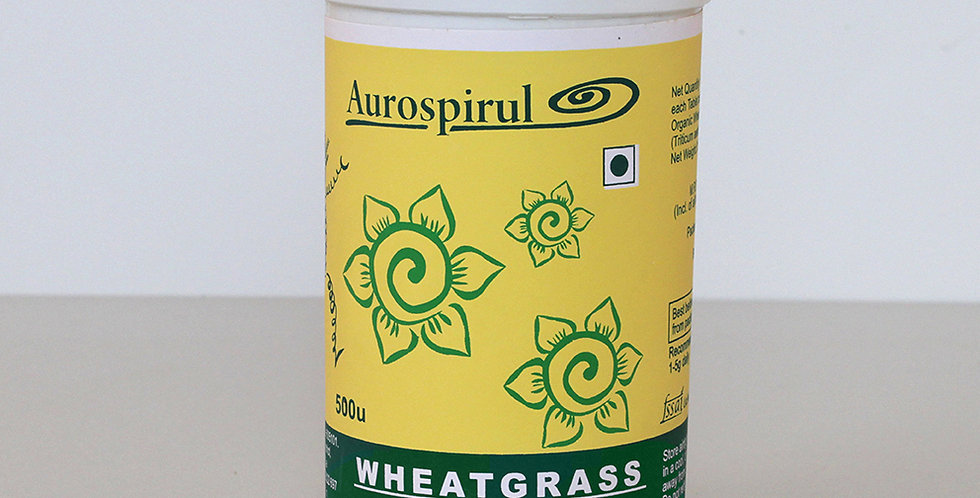 Aurospirul organic certified Wheatgrass Tablets 500 units
