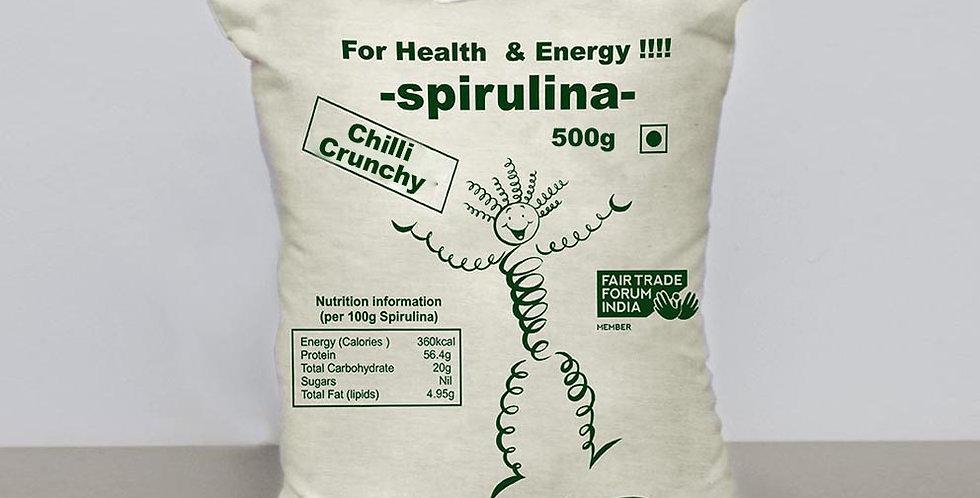 Aurospirul Sun-Dried Spirulina Chilli Crunchy - 500g