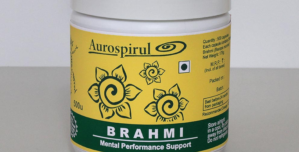 Aurospirul organic certified Brahmi - 500 Veg Capsules