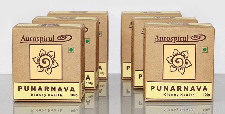 Aurospirul organic certified Punarnava powder 6-pack - 6 x 100g