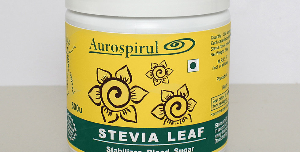 Aurospirul organic certified Stevia - 500 Veg Capsules