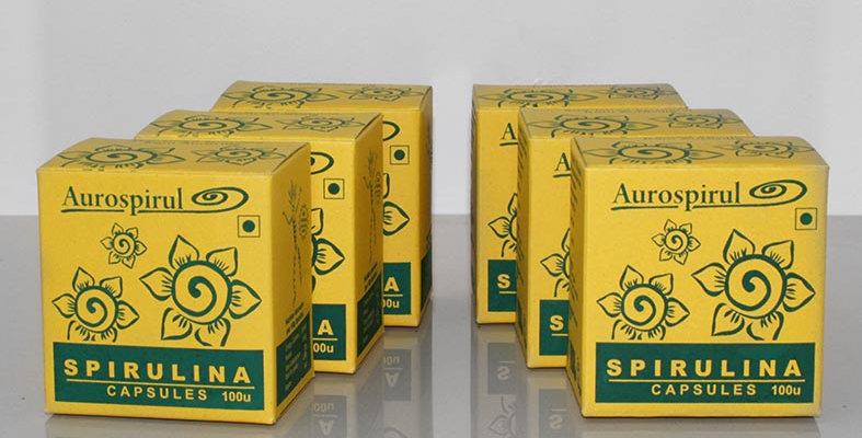 Aurospirul Sun dried spirulina veg capsules 6-pack - 6 x 100 capsules