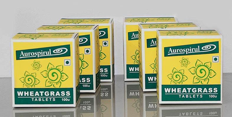 Aurospirul Wheatgrass tablets 6-pack - 6 x 100 tablets