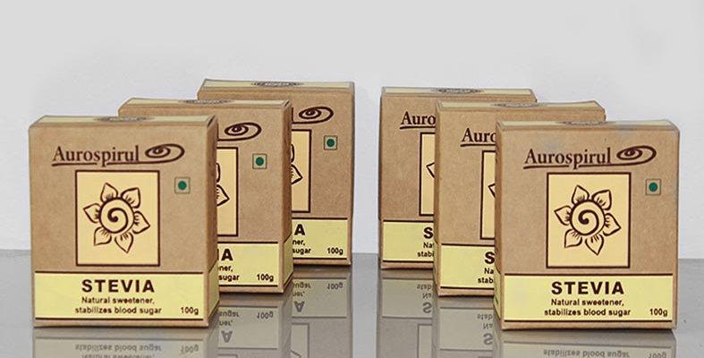 Aurospirul organic certified Stevia powder 6-pack - 6 x 100g