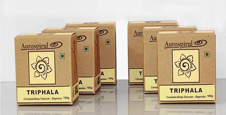 Aurospirul organic certified Triphala powder 6-pack - 6 x 100g