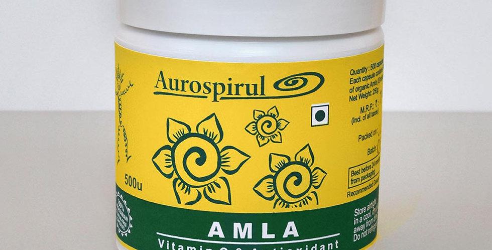 Aurospirul organic certified Amla - 500 Veg Capsules