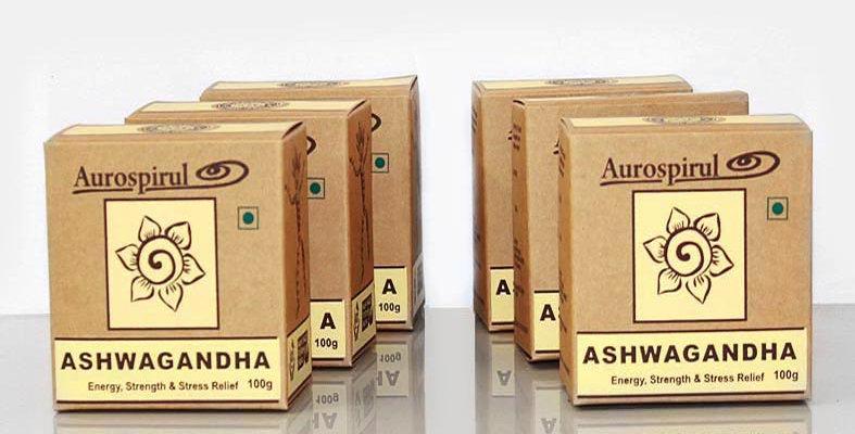 Aurospirul organic certified Ashwagandha powder 6-pack - 6 x 100g
