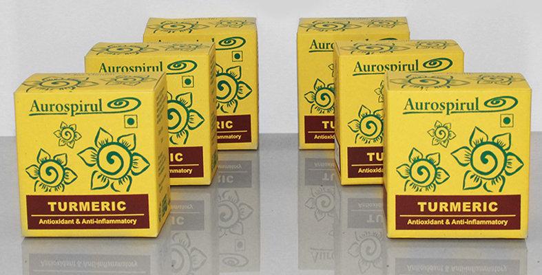 Aurospirul organic certified Turmeric capsules 6-pack - 6 x 100 capsules