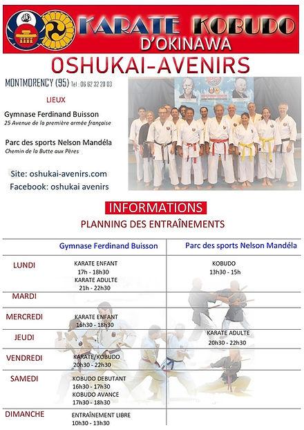 Horaires Oshukai Avenirs