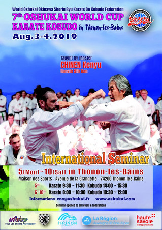 7ème Coupe Internationale Oshukaï de Karate Shorin Ryu et de Kobudo d'Okinawa