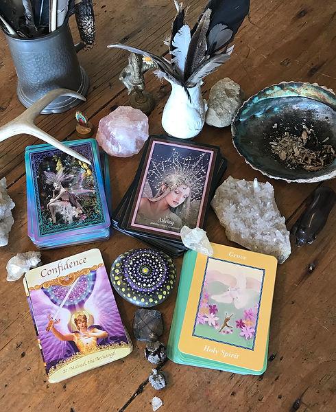 oracle card altar.jpg