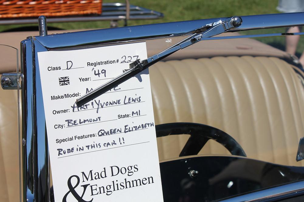 Mad Dog and Englishmen Display Card