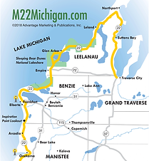 Michigan's scenic M-22 drive