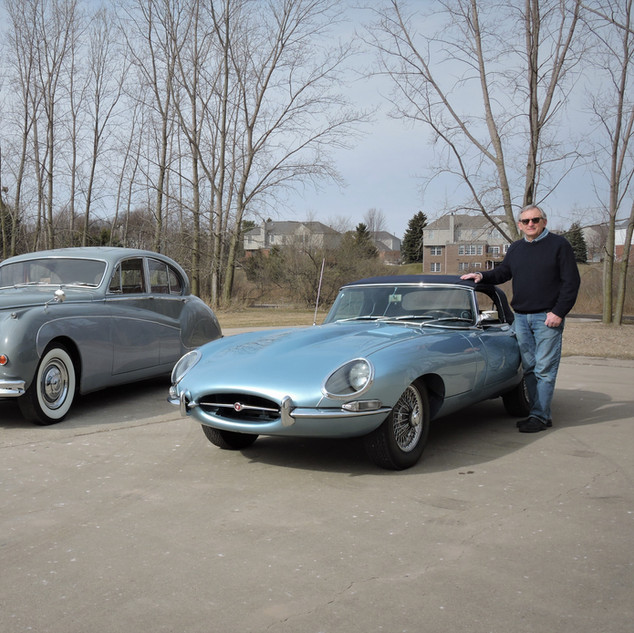 1959 Mk IX Sedan 1967 XKE OTS Silver Blue  Len Kata Rochester Hills, MI