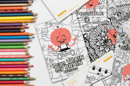 Growth Mindset Colouring Postcards 成長思維填色卡