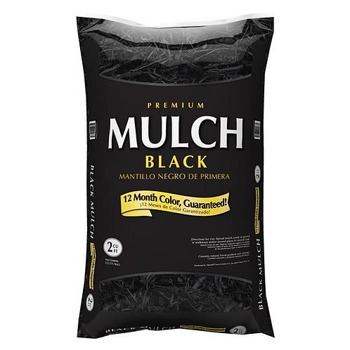 2 cubic ft. Black Hardwood Mulch
