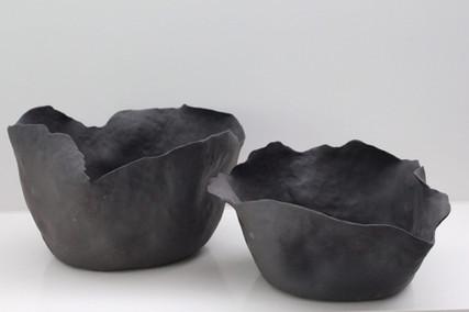 Black Flower Bowls