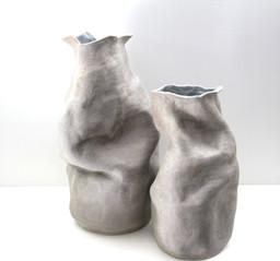 Large Crumpled Vases