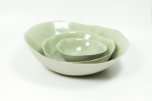 Ceramic Serving Bowl - Green