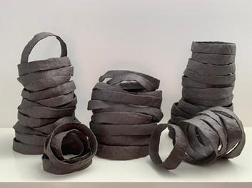 Stax in dark clay