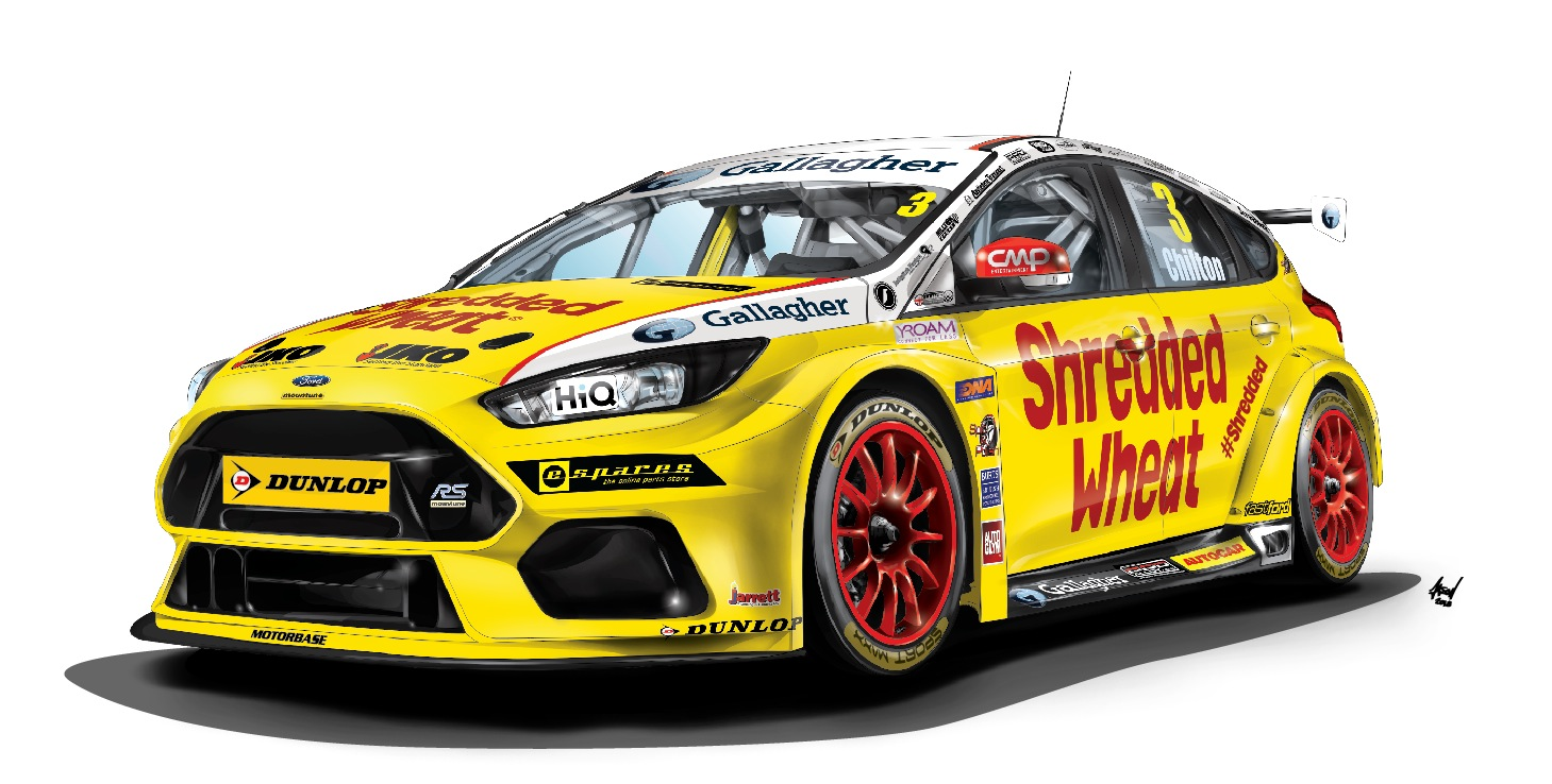 BTCC Tom Chilton Ford Focus RS