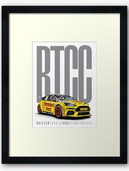 BTCC framed print