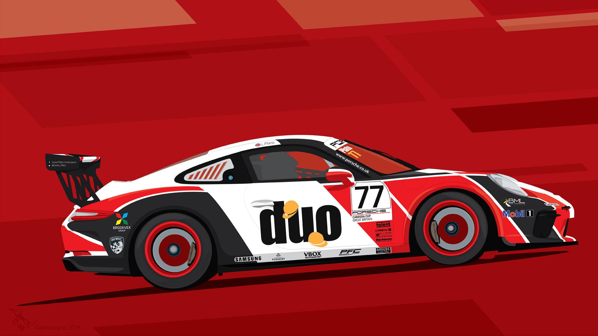 Porsche GT poster
