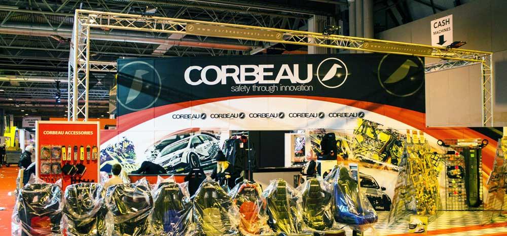 Corbeau Autosport show stand