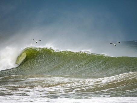 Retour sur la session a Port Andro, bonne conditions de Surf sur Belle-ile grâce à la Tempête Miguel