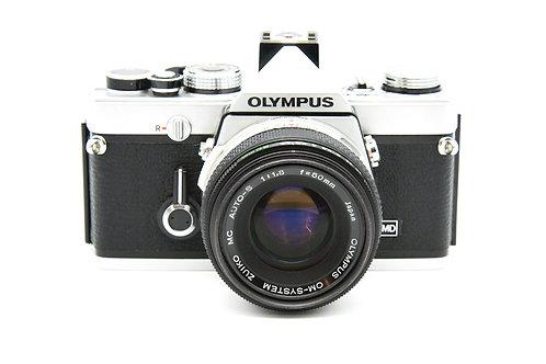 Olympus OM-1 35mm SLR Film Camera w/ 50 mm f/1.8
