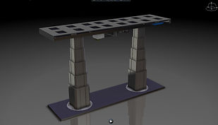 Low-Stow HI-LO Dual Leg Table Pedestal