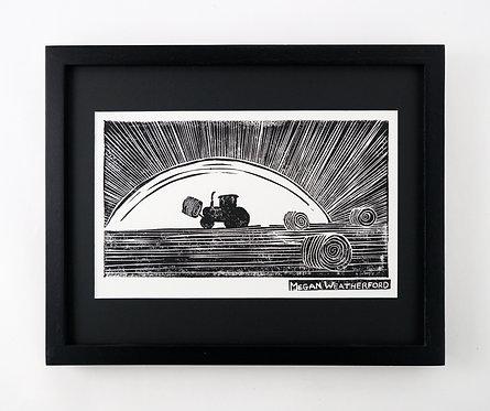 Hay Handler's Half-Light Framed Original Print