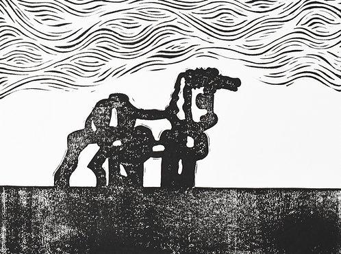 Iron Horse, Watkinsville,GA Original Print