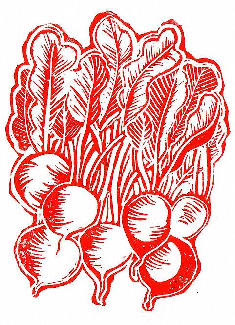 Red Radishes Original Print