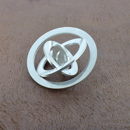Sterling silver orbital pendant