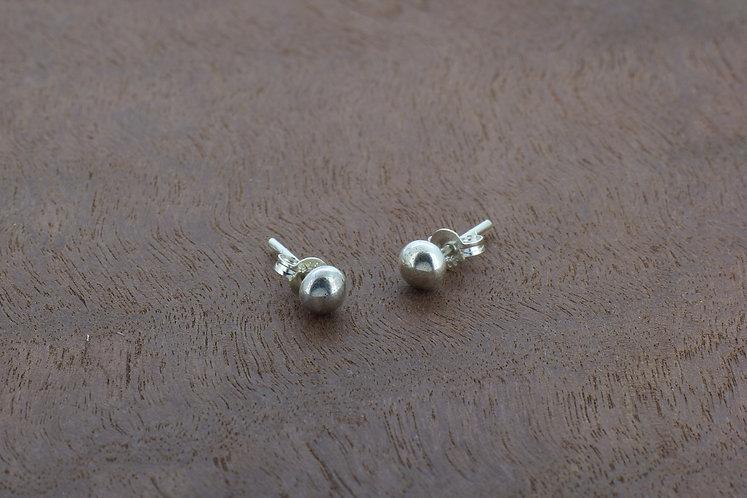 Sterling silver small, minimalistic, handmade ball stud