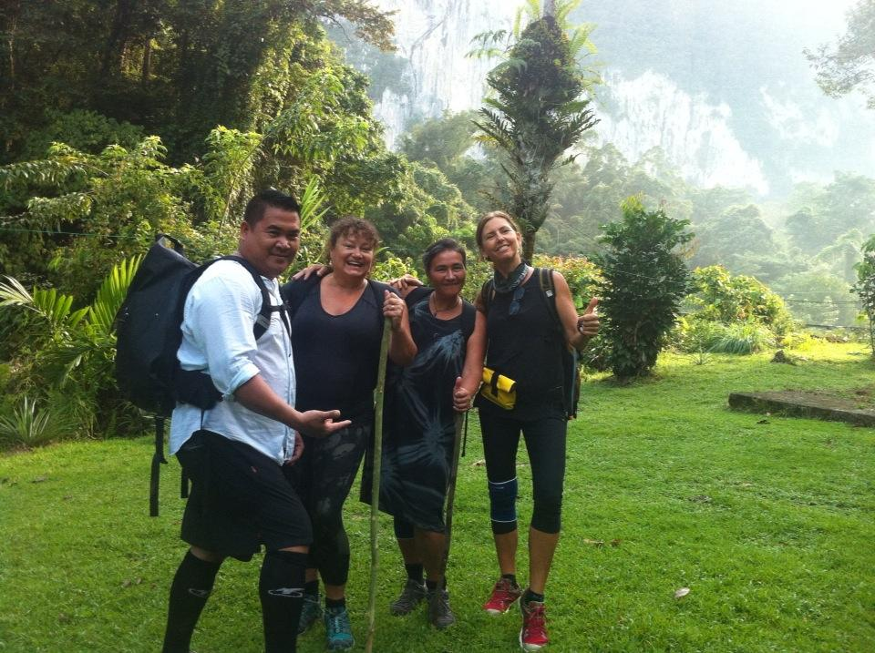 Setting out for the second day walking on Mulu's Headhunter's Trail