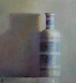 Porseleine fles 27 x 25 x 5 (verkocht)
