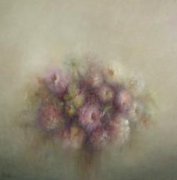 Bloemen 100 x 100 cm.